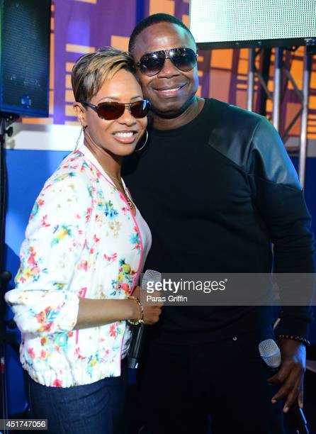 Rappers MC Lyte and Doug E Fresh attends the 2014 Essence Music Festival on July 5 2014 in New Orleans Louisiana