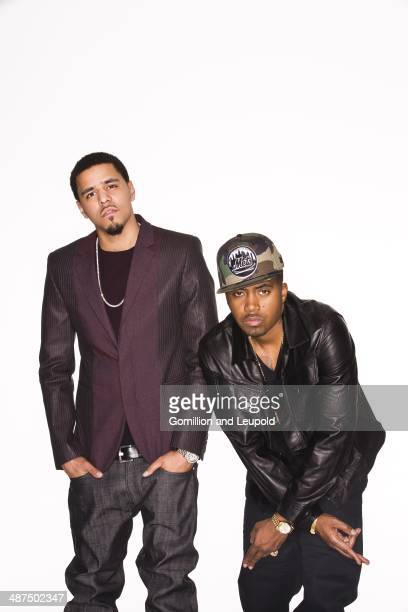 Rappers Nas and JCole are photographed for Vibe Magazine on June 27 2013 in New York City