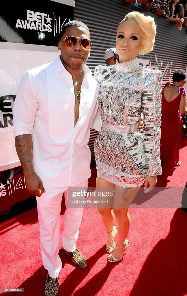 Rappers Nelly (L) and Charli Baltimore attend the BET AWARDS '14 at Nokia Theatre L.A. LIVE on June 29, 2014 in Los Angeles, California.