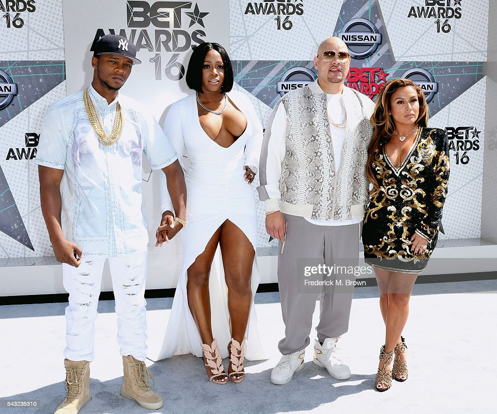 Rappers <a gi-track='captionPersonalityLinkClicked' href=/galleries/search?phrase=Papoose+-+Rapper&family=editorial&specificpeople=5342665 ng-click='$event.stopPropagation()'>Papoose</a>, <a gi-track='captionPersonalityLinkClicked' href=/galleries/search?phrase=Remy+Ma&family=editorial&specificpeople=625354 ng-click='$event.stopPropagation()'>Remy Ma</a>, and <a gi-track='captionPersonalityLinkClicked' href=/galleries/search?phrase=Fat+Joe&family=editorial&specificpeople=201584 ng-click='$event.stopPropagation()'>Fat Joe</a> with Lorena Cartagena attend the 2016 BET Awards at the Microsoft Theater on June 26, 2016 in Los Angeles, California.