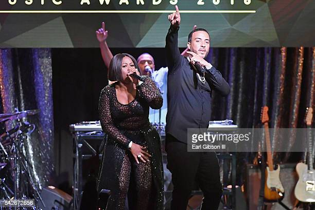Rappers Remy Ma and French Montana perform onstage during the 2016 ASCAP Rhythm Soul Awards at the Beverly Wilshire Four Seasons Hotel on June 23...