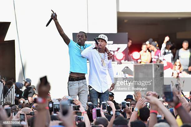 Rappers Rich Homie Quan and Tyga perform at Revolt Live Hosts Exclusive 'Furious 7' Takeover with Musical Performances From the Official Motion...