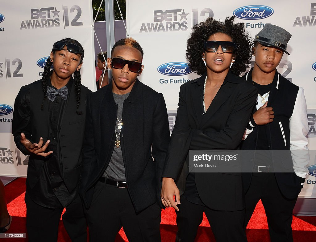 Rappers Roc Royal Ray Ray Prodigy and Princeton arrive at the 2012 BET Awards at The Shrine Auditorium on July 1 2012 in Los Angeles California