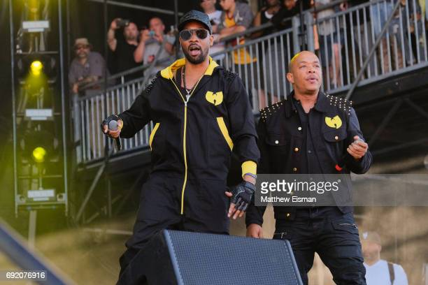 Rappers RZA and UGod of the WuTang Clan perform live on stage during the 2017 Governors Ball Music Festival Day 2 at Randall's Island on June 3 2017...
