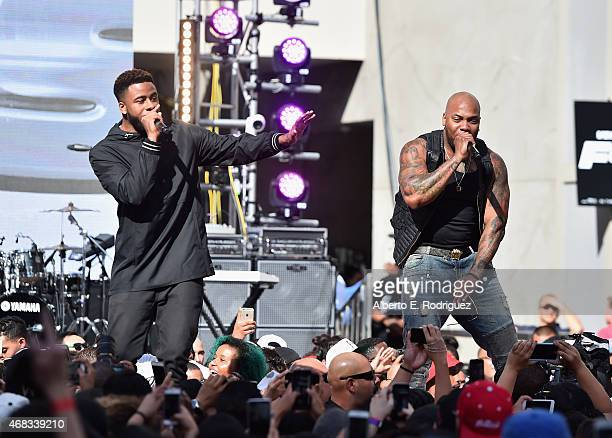 Rappers Sage the Gemini and Flo Rida perform at Revolt Live Hosts Exclusive 'Furious 7' Takeover with Musical Performances From the Official Motion...
