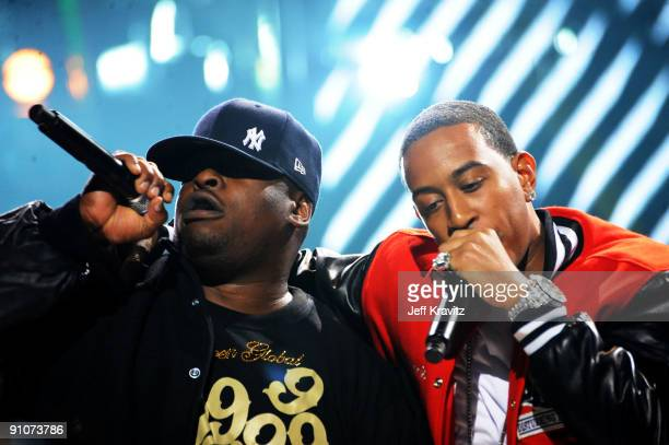 Rappers Scarface and Ludacris perform onstage at the 2009 VH1 Hip Hop Honors at the Brooklyn Academy of Music on September 23 2009 in the Brooklyn...