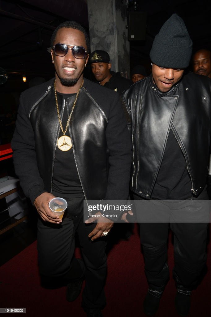 Rappers <a gi-track='captionPersonalityLinkClicked' href=/galleries/search?phrase=Sean+Combs&family=editorial&specificpeople=178993 ng-click='$event.stopPropagation()'>Sean Combs</a> aka Diddy (L) and <a gi-track='captionPersonalityLinkClicked' href=/galleries/search?phrase=Mase&family=editorial&specificpeople=213070 ng-click='$event.stopPropagation()'>Mase</a> attend the Beats Music Launch Party at Belasco Theatre on January 24, 2014 in Los Angeles, California.