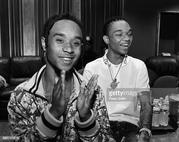 Rappers Slim Jimmy and Swae Lee of Rae Sremmurd attend 'SremmLife 2' private listening session at TreeSound Studios on August 3 2016 in Norcross...