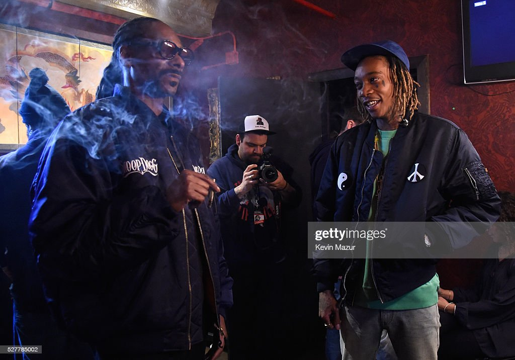Rappers Snoop Dogg and Wiz Khalifa attend the 2nd Annual National Concert Day presented by Live Nation at Irving Plaza on May 3, 2016 in New York City.