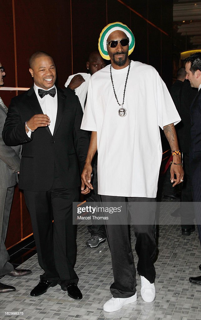 Rappers Snoop Lion and Xzibit attend the launch party for Bonita Platinum Tequila at Hyde Bellagio at the Bellagio on March 2, 2013 in Las Vegas, Nevada.