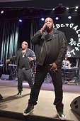 Rappers Spliff Star and Busta Rhymes perform onstage at the 2016 ASCAP Rhythm Soul Awards at the Beverly Wilshire Four Seasons Hotel on June 23 2016...