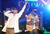 Rappers Swae Lee and Slim Jimmy of Rae Sremmurd performs onstage during the BET Hip Hop Awards 2014 at Boisfeuillet Jones Atlanta Civic Center on...