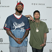 Rappers The Game and Tyga attend the Equinox 'Celebrity Basketball Spectacular' To Benefit Sports Spectacular on May 30 2015 in West Los Angeles...
