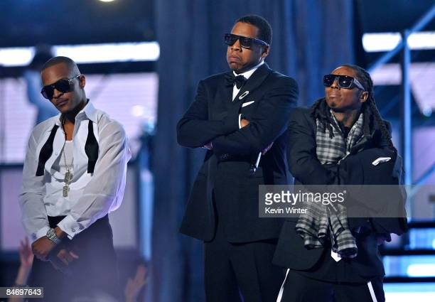 Rappers TI JayZ and Lil Wayne perform during the 51st Annual Grammy Awards held at the Staples Center on February 8 2009 in Los Angeles California