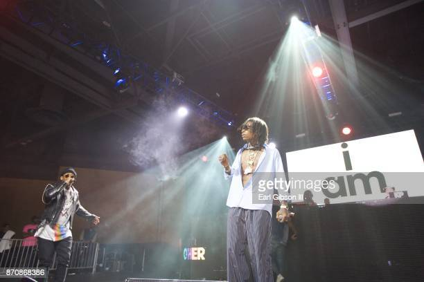 Rappers Ty Dolla $ign and Wiz Khalifa perform at ComplexCon 2017 on November 5 2017 in Long Beach California