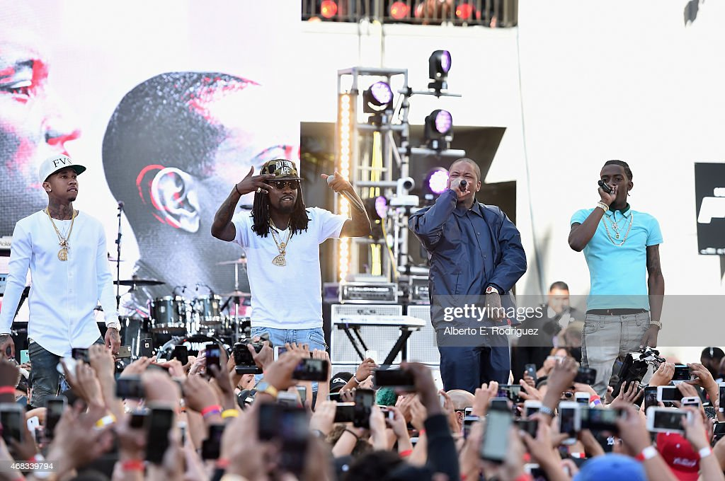 Rappers Tyga Wale YG and Rich Homie Quan perform at Revolt Live Hosts Exclusive 'Furious 7' Takeover with Musical Performances From the Official...