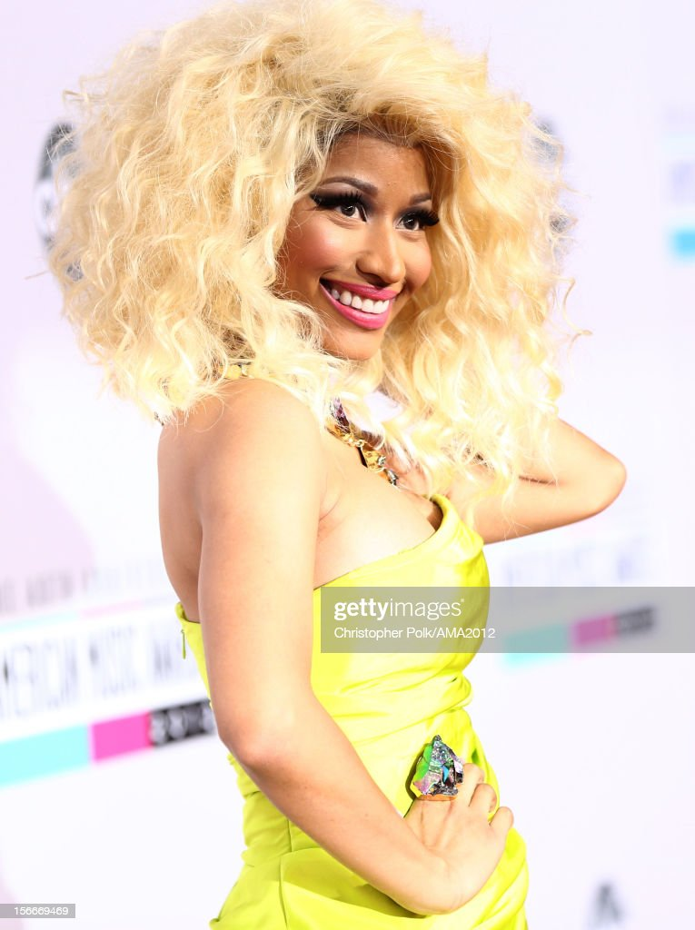 Rapper/singer <a gi-track='captionPersonalityLinkClicked' href=/galleries/search?phrase=Nicki+Minaj+-+Artist&family=editorial&specificpeople=6362705 ng-click='$event.stopPropagation()'>Nicki Minaj</a> attends the 40th American Music Awards held at Nokia Theatre L.A. Live on November 18, 2012 in Los Angeles, California.