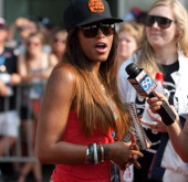 Rappersongwriter / actress Eve attends the 2012 Indianapolis 500 at Indianapolis Motorspeedway on May 27 2012 in Indianapolis Indiana