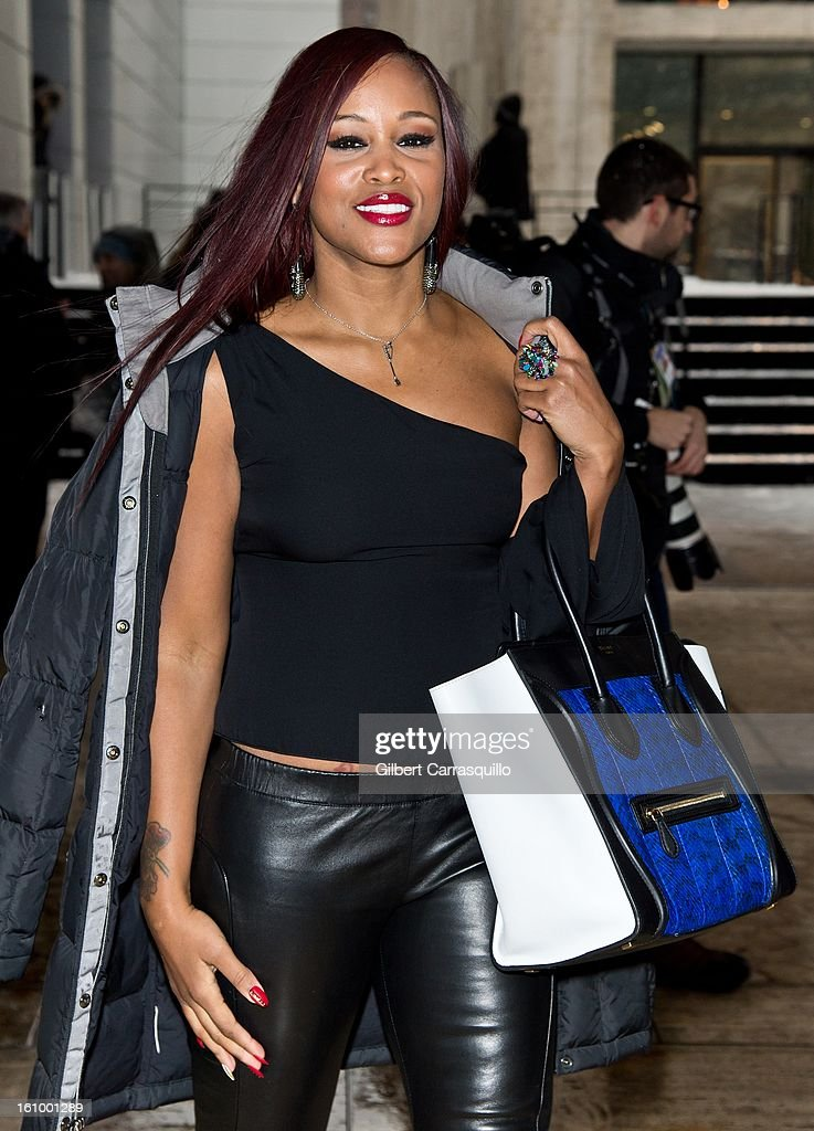 Rapper-songwriter/actress Eve attends Fall 2013 Mercedes-Benz Fashion Show at The Theater at Lincoln Center on February 8, 2013 in New York City.