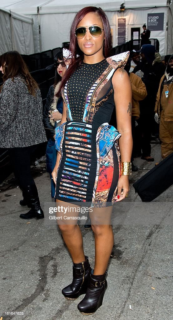 Rapper-songwriter/actress Eve attends Fall 2013 Mercedes-Benz Fashion Show at The Theater at Lincoln Center on February 13, 2013 in New York City.
