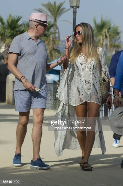 Raquel Bernal and Boris Izaguirre are seen on August 6 2017 in Marbella Spain