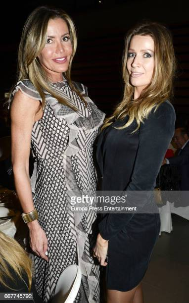 Raquel Bernal and Nicole Kimpel attend Gala Dinner of Lagrimas and Favores Foundation during Holy Week celebration on April 7 2017 in Malaga Spain