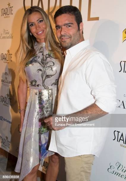Raquel Bernal and Pablo Montero attend Miguel Bose concert on August 4 2017 in Marbella Spain