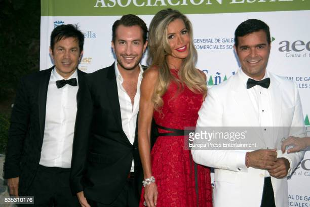 Raquel Bernal and Pablo Montero attend XXXIV AECC Gala Dinner at Real Club de Golf Guadalmina on August 5 2017 in Marbella Spain