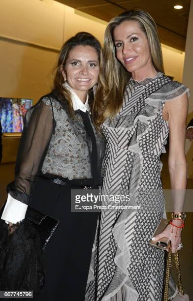 Raquel Bernal and Sandra GarciaSanjuan attend Gala Dinner of Lagrimas and Favores Foundation during Holy Week celebration on April 7 2017 in Malaga...