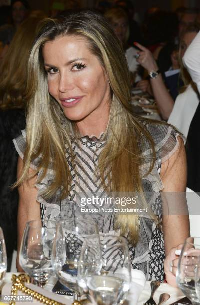 Raquel Bernal attends Gala Dinner of Lagrimas and Favores Foundation during Holy Week celebration on April 7 2017 in Malaga Spain