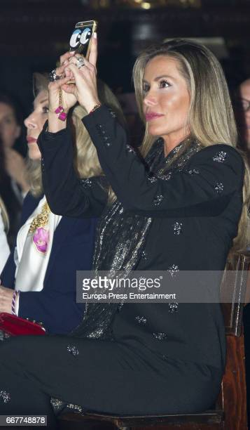 Raquel Bernal attends Palm Sunday procession during the Holy Week celebrations on April 9 2017 in Malaga Spain