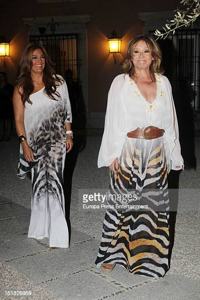 Raquel Bollo and Mila Ximenez attend the 47th birthday party of Terelu Campos at Casa Monico Restaurant on September 5 2012 in Madrid Spain