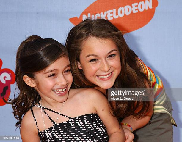 Raquel Castro and Alexa Vega during Nickelodeon's 17th Annual Kids' Choice Awards Arrivals at Pauley Pavillion in Westwood California United States