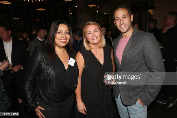 Raquel Garcia and Kris Kramer attend DSW A Celebration of Self Expression on October 17 2017 in New York City