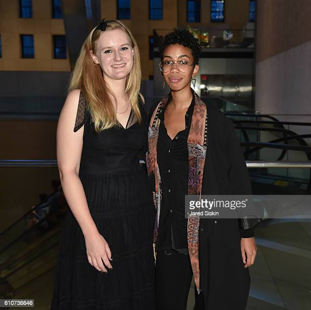 Raquel Hazel and Claire G attend Abstracted Black Tie Dinner Hosted by Pamela Joyner Fred Giuffrida and the Ogden Museum of Southern Art to Celebrate...