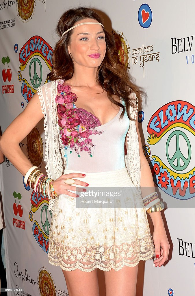 Raquel Jimenez attends the Flower Power Pacha Party 2013 at the Carpe Diem club on April 18, 2013 in Barcelona, Spain.
