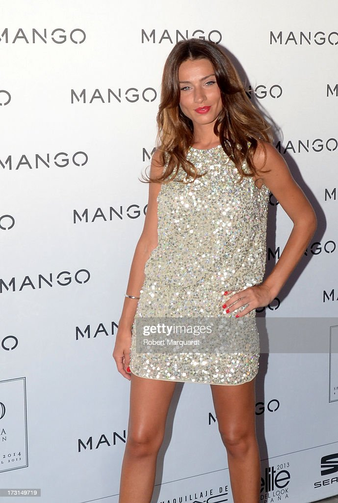 Raquel Jimenez attends the MANGO fashion show during the 080 Barcelona Fashion week 2014 held at the Disseny Hub Barcelona on July 8, 2013 in Barcelona, Spain.