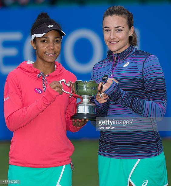 Raquel KopsJones and Abigail Spears of USA celebrate their victory against Jocelyn Rae and Anna Smith of Great Britain in the Women's Doubles Final...