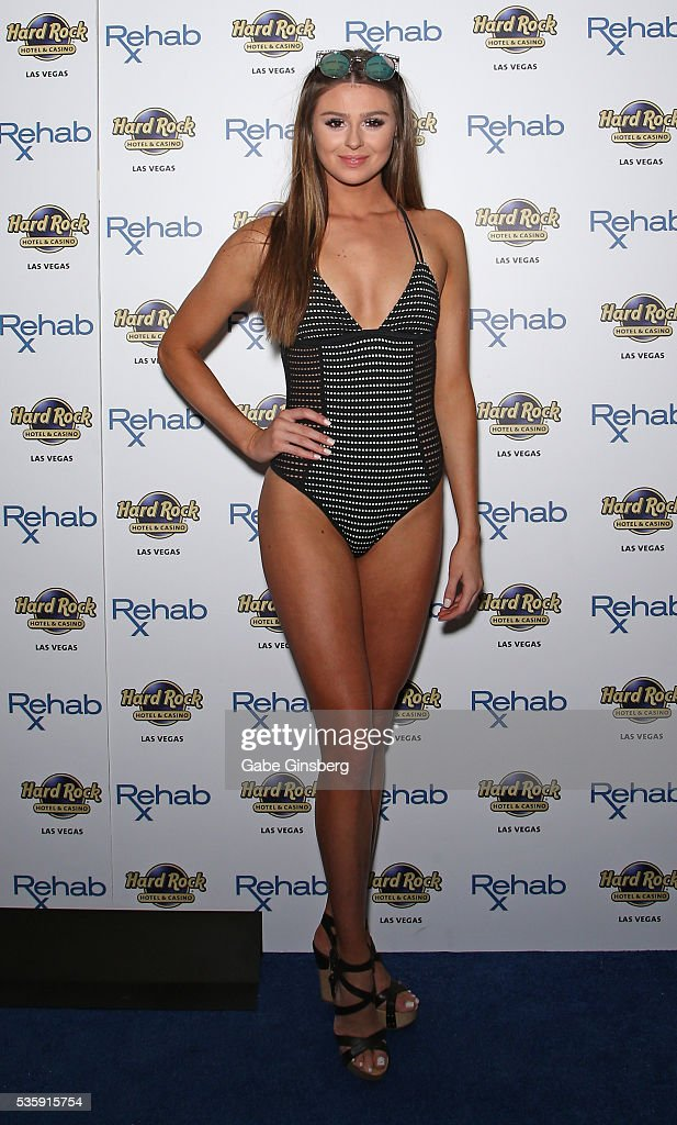 Raquel Leviss arrives at the Hard Rock Hotel & Casino's Rehab pool party on May 30, 2016 in Las Vegas, Nevada.