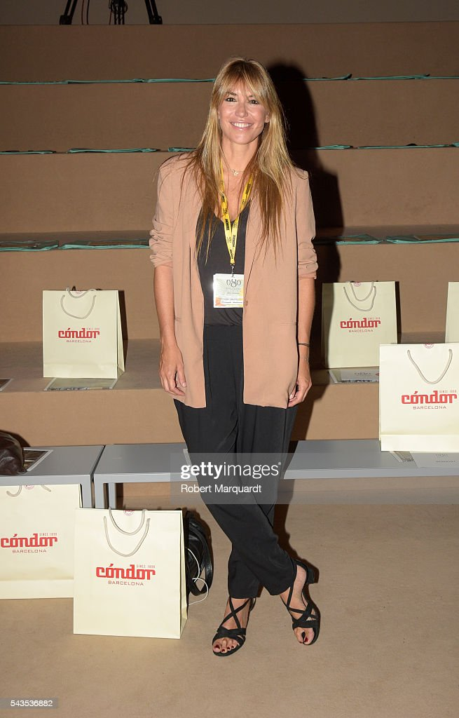 Raquel Mareno attends the front row of CND By Condor show during the Barcelona 080 Fashion Week Spring/Summer 2017 at the INFEC on June 29, 2016 in Barcelona, Spain.