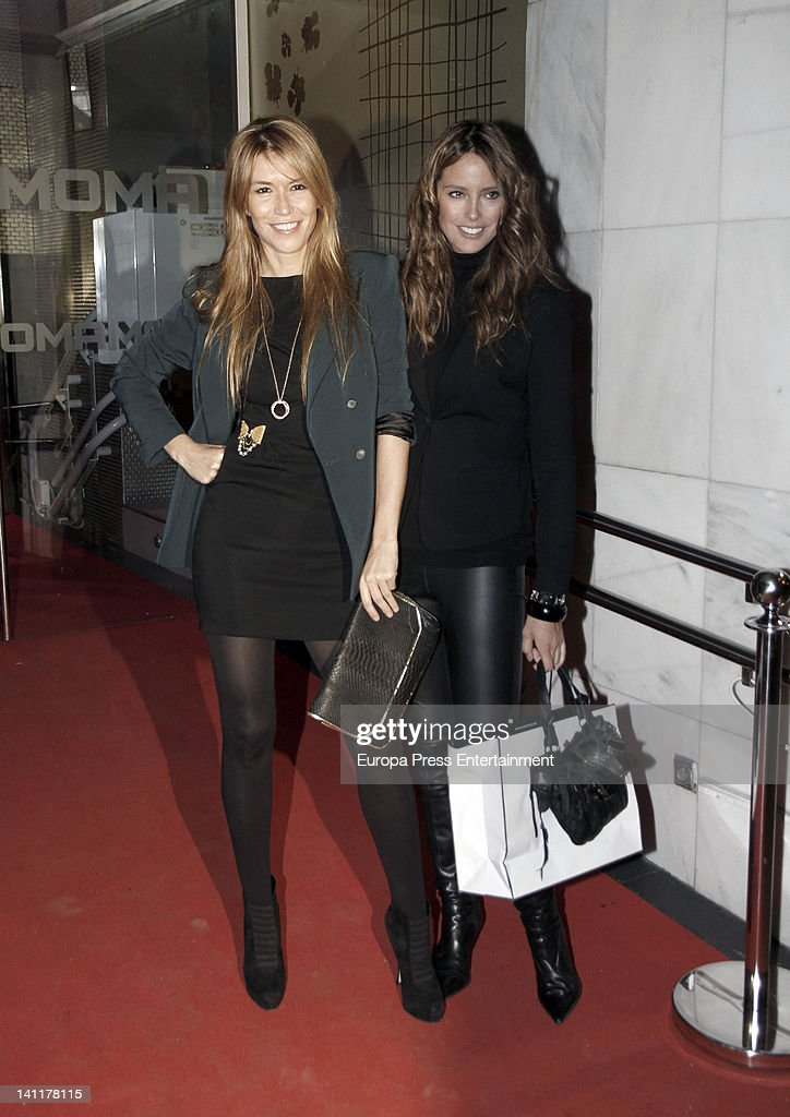 Raquel Merono and Estefania Luyck attend Vicky Martin Berrocal's 39th birthday party on March 10 2012 in Madrid Spain