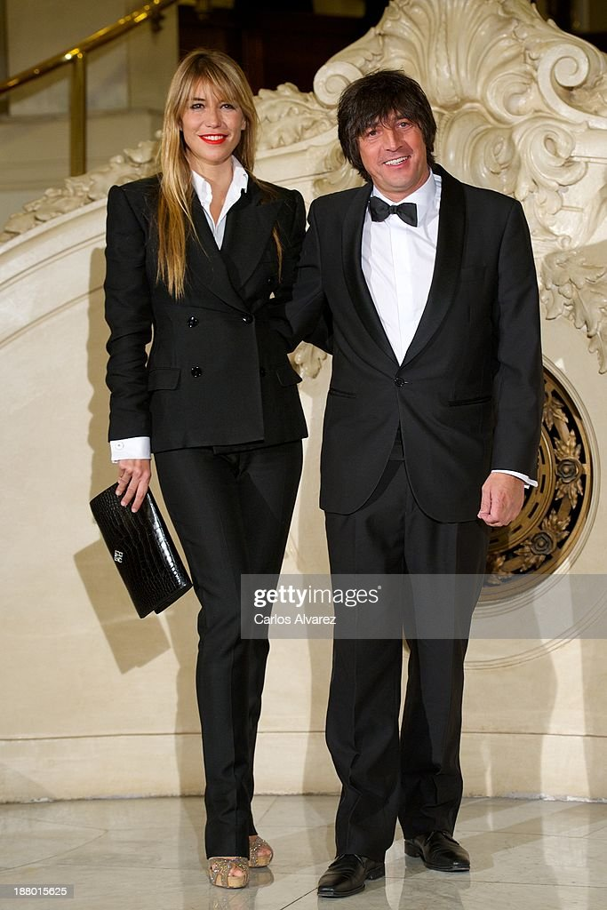 Raquel Merono and husband Santiago Carbones attend the Ralph Lauren Dinner Charity Gala at the Casino de Madrid in on November 14 2013 in Madrid Spain