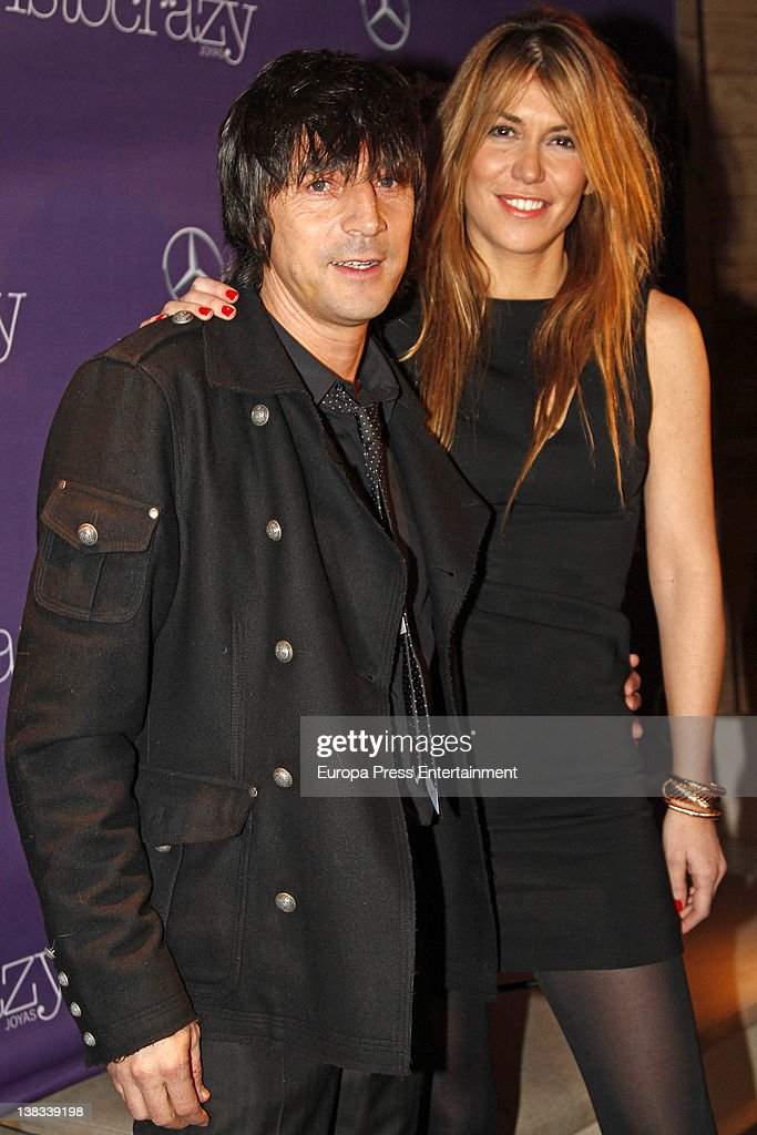 Raquel Merono and Santiago Carbones attend Aristocrazy party during MercedesBenz Fashion Week Madrid A/W 2012 on February 3 2012 in Madrid Spain