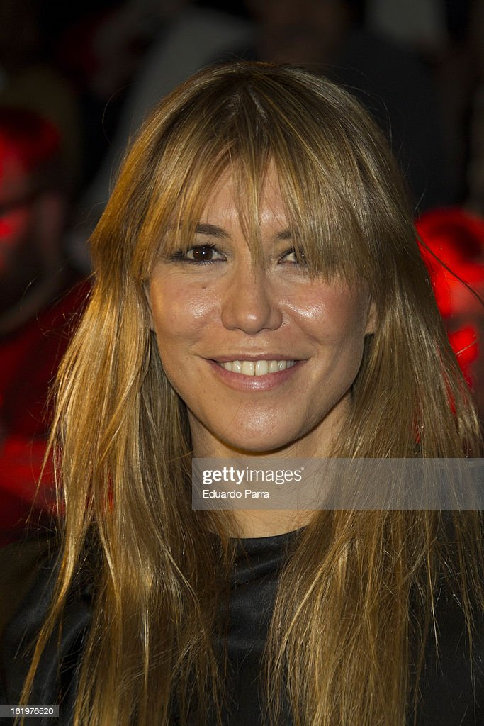 Raquel Merono attends a fashion show during the Mercedes Benz Fashion Week Madrid Fall/Winter 2013/14 at Ifema on February 18 2013 in Madrid Spain