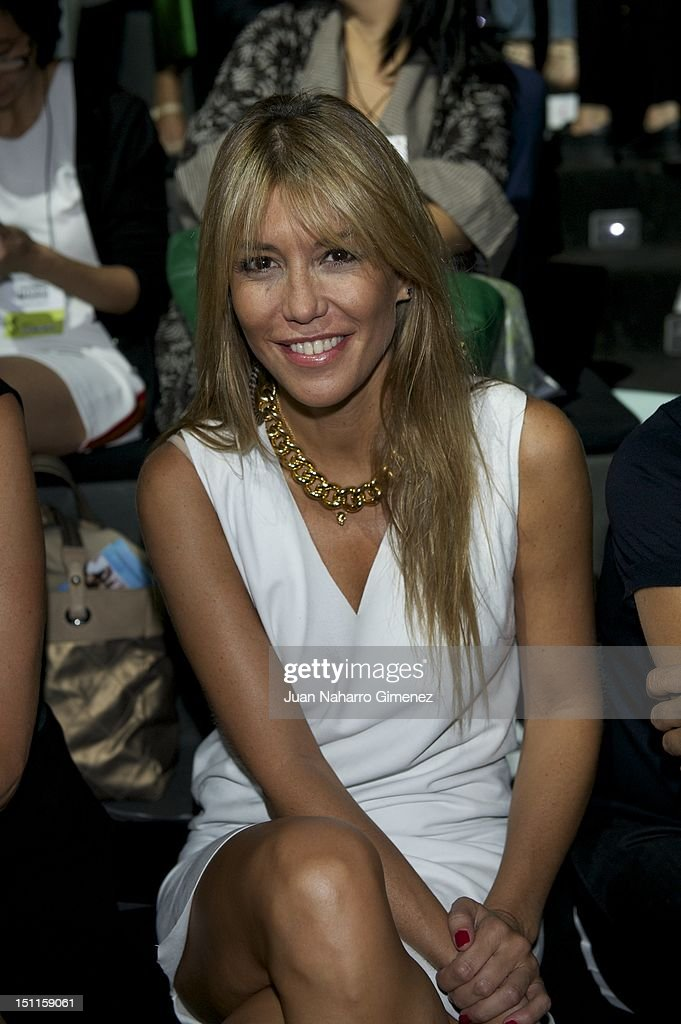 Raquel Merono attends a fashion show during the Mercedes Benz Madrid Fashion Week Spring/Summer 2013 at Ifema on September 2 2012 in Madrid Spain