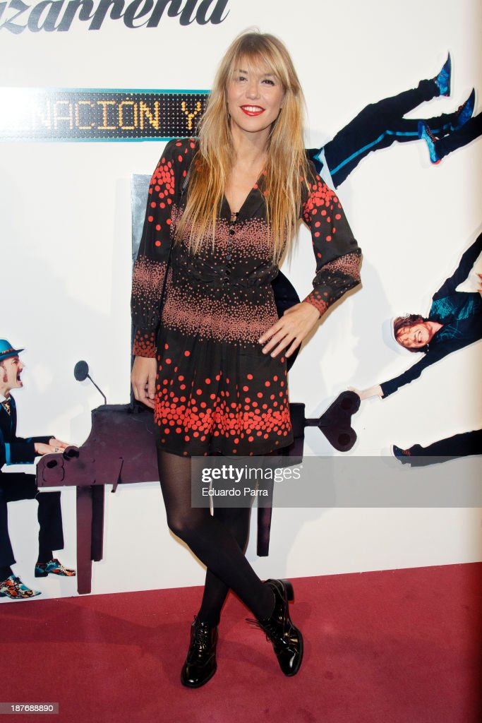 Raquel Merono attends Alex O'Dogherty new album presentation party photocall at La Latina theatre on November 11 2013 in Madrid Spain