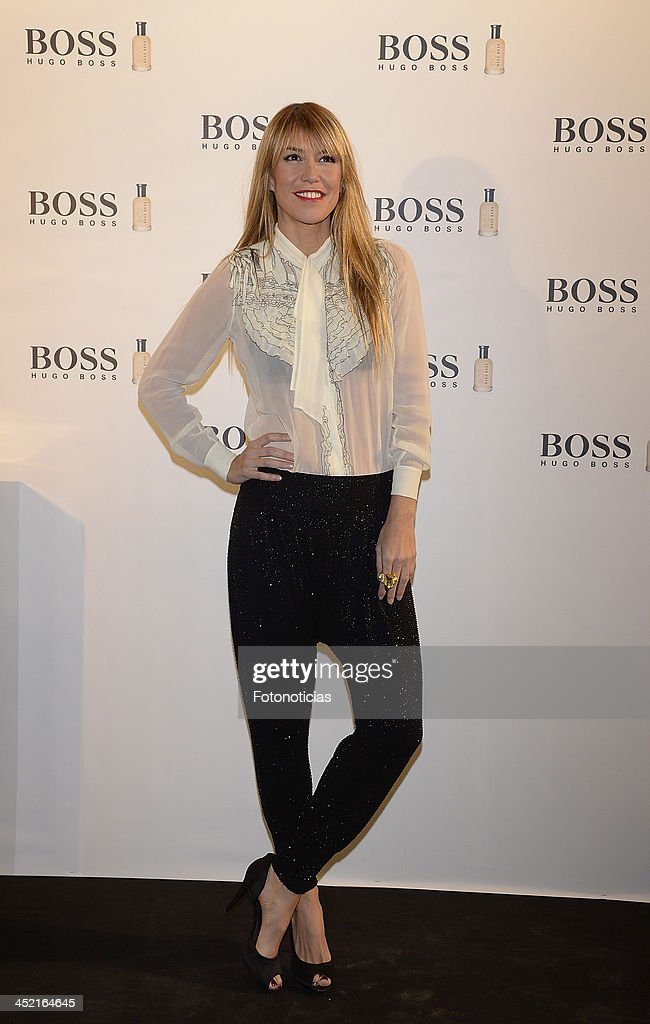 Raquel Merono attends 'Boss Bottled' 15th Anniversary celebration at Eurostars Hotel on November 26 2013 in Madrid Spain