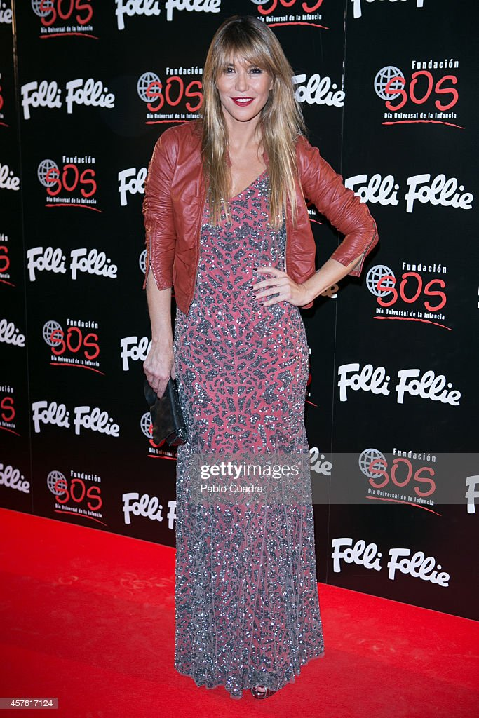 Raquel Merono attends 'Folli Follie' new charity collection presentation on October 21 2014 in Madrid Spain