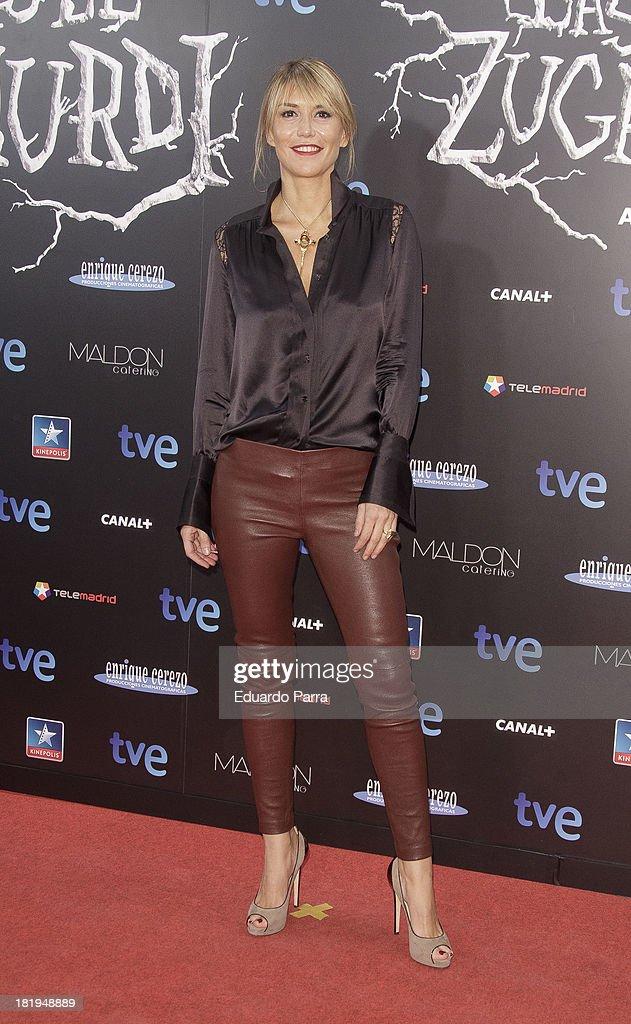 Raquel Merono attends 'Las brujas de Zugarramurdi' premiere photocall at Kinepolis Cinema on September 26, 2013 in Madrid, Spain.