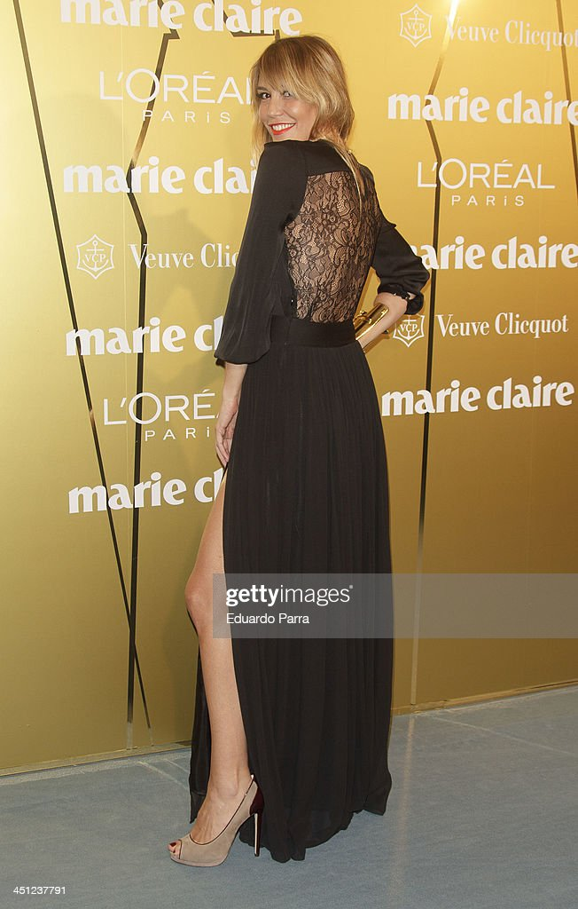 Raquel Merono attends 'Marie Claire Prix de la moda' awards 2013 photocall at Residence of France on November 21 2013 in Madrid Spain